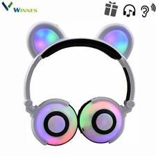 Cat Ear Bluetooth Headphones,Winnes Bear Ear Couple Headset Dj Style Foldable Ga