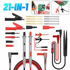21 In 1 Multimeter Test Lead Kit Electrical Alligator Clip Test Probe Plug Set