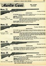 1961 Print Ad of Marlin Model 55 & 59 Bolt Action Shotgun