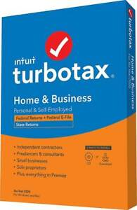 NEW Intuit TurboTax Home & Business Federal E-File +State 2020 CD WINDOWS MAC