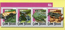Guinea-Bissau Frogs Stamps 2015 MNH Frog Amphibians Fauna 4v M/S