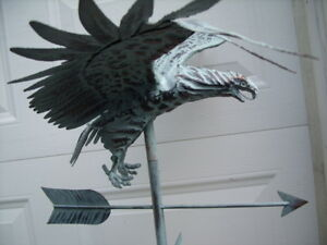 3D Eagle Weathervane Antique Copper Finish Flying Weather Vane HandCrafted