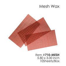 Dental Mesh Wax Patterns 5.80 x 3.00 Inch 10 Sheets/Box Item #: 710