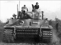 8x6 Lucido Foto ww45F5 Guerra Mondiale 2 II WW2 Guerra Foto Tigre Serbatoio 2