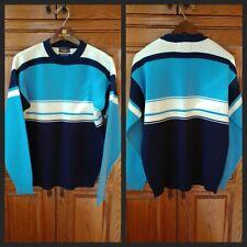 Vintage 1980's JC Penney OP Hang Ten Striped Surf Skate Ski Sweater L