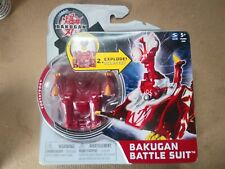 New- BAKUGAN Mechtanium Surge Red Fortatron Battle Suit W/Card Freeshipping