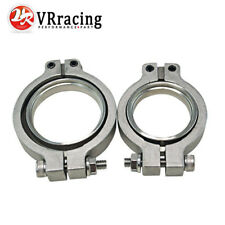 2 pcs Stainless Steel V Band Flange Clamp V-band Kit For MV-R 44mm Wastegate