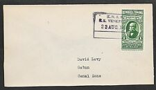 Panama covers 1935 Shipcover frontside KNSM SS VENEZUELA to Canal Zone