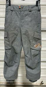 Burton Snowboard Pants - Youth Medium - Boys Girls Kids - Grey/Orange