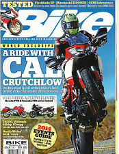 BIKE, MARCH, 2014  ( BRITAIN'S BIGGEST SELLING BIKE MAGAZINE ) A RIDE WITH CAL