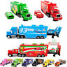 Disney Pixar CARS King/Chick Hicks/MACK HAULER SUPER-LINER Truck Toy Diecast 123
