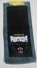 SET OF 2 PENRITH PANTHERS NRL TEAM LOGO VELOUR HAND TOWELS 33cm x 72cm