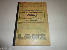 Ersatzteiliste/Parts Catalog Lanz Alldog Motorgeräteträger Stand 1954