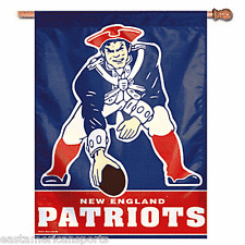 New England Patriots NFL 27 x 37 Retro Throwback Vertical Hanging Flag Banner