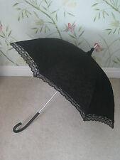 Black lace victorian Matrimonio Corse Parasol Ombrello RAZZE Gotico