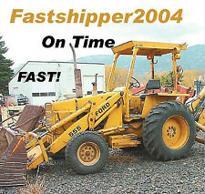 Ford 550 555 Tractor Loader Backhoe Shop Service Manual Parts Catalogs Repair CD