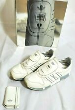 adidas originals MICROPACER WHITE PATENT  and ipod case Men's Sneaker Size 11.5