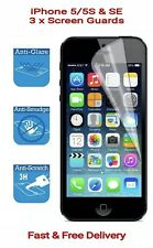 APPLE iPhone 5/5S/SE (99.9%HD CLEAR) Film Protector Screen Guard x3 Pack