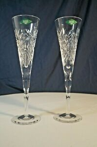 2 Godinger Pineapple Collection Crystal Champagne Flutes (Shannon-Dublin Coll)