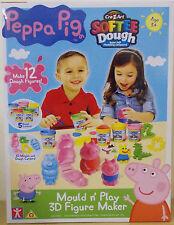 Peppa Pig ~ Softie Dough Mould & Play 3D Figure Maker ~ Makes 12 Dough Figures