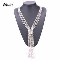 Bead Chain Beads Boho Women Long Tassel Necklace Jewelry Tassel Pendant