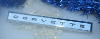Corvette 1961 Corvette Side Fender Emblem Badge Chrome One Original