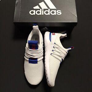 adidas Mens Lite Racer Adapt 3.0 Running Shoe White Red Blue Lightweight size 9