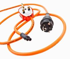 Ecosse power cable Big Orange GR8 MKII 1mt figure 8 mains power cable