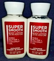 *NEW* 2-Pack ~JAPANESE CHERRY BLOSSOM~ Bath & Body Works ~TRAVEL LOTION~