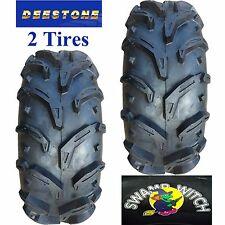 2) 28x10.00-12 ATV TIREs 28/10.00-12 28x10-12 28/10-12 Deestone Swamp Witch 6ply