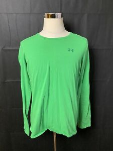 Under Armour Mens UA Charged Cotton LS T-Shirt XL Green Semi Fitted