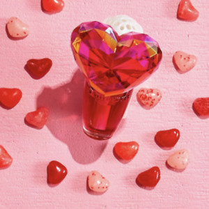 BATH & BODY WORKS VALENTINE PINK DIAMOND HEART WALLFLOWER PLUG IN NIGHT LIGHT