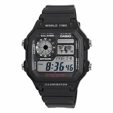 Casio Men's AE1200WH-1A Black Analog Digital Multi-Function Watch