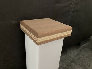 Solid Mahogany, Pine Unique And Modern Newel Post Cap, Fence Post, Stair Parts