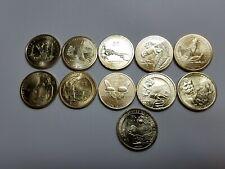 1 Each Year 2009-2019 (11 Coins) Sacagawea Native American Dollars BU UNC!