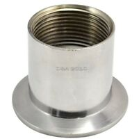 """1.25 """"Sanitary IG Threaded Fitting Flange Ferrule For Tri Clamp 64mm SS316 NPT"""