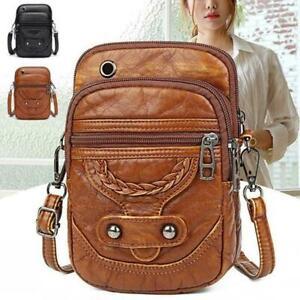 Women PU Leather Crossbody Bag Messenger Shoulder Mobile Handbag Phone W7I3