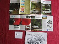 N°4217   /  DAF 33  crevé technique et dépliant couleur 1967
