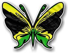 Tribal ButterflyTattoo Style & Jamaica Jamaican Country Flag vinyl car sticker