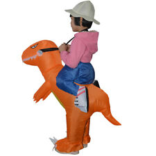 Inflatable Dinosaur Riding Funny Costume Suit Kids Halloween Party Outfits