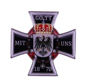 Germany Prussia Medal Order Cross GOTT MIT UNS 1870 German Reich Badge Replica