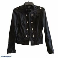 White House Black Market Military Style Jacket Blazer Women's Size 2 Black