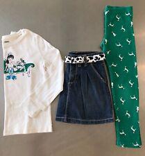 gymboree Size 6 Fancy Dalmatians VGUC 3 pc set top skirt pant fall BTS