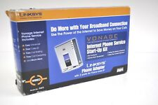 Linksys Phone Adapter 2 Ports For Voice Over IP PAP2 Vonage Start up Kit