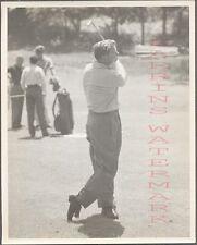 Vintage Photo Golfing Man Walter Burkemo w/ Golf Club in Swinging Motion 704311