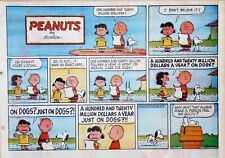 Peanuts by Charles Schulz - large half-page color Sunday comic - Nov. 18, 1962