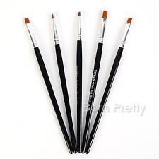 5 tlg Nail Art Pinsel UV Gel Nagel Pinsel Set Flachpinsel Gr. #2 #4 #6 #8 #10