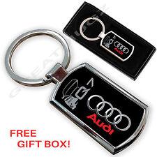 AUDI Q7 AUTO PortaChiavi Key Chain ring FOB METALLO CROMATO NUOVO