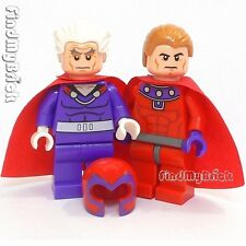 BM013 Lego X-men Old Magneto Minifigure & Young Custom Minifigures 76022 NEW