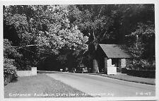 W.M. Cline RPPC Postcard Audubon State Park, Henderson Kentucky 3-8-47